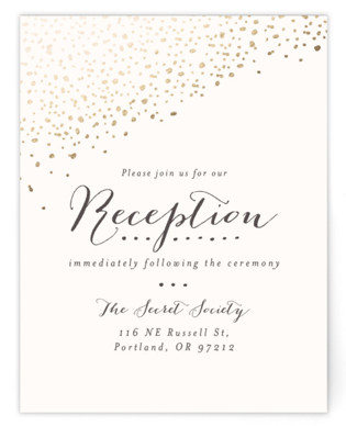 Dipped Feathers Foil-Pressed Reception Cards