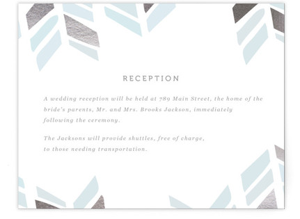 Arrow Head Foil-Pressed Reception Cards