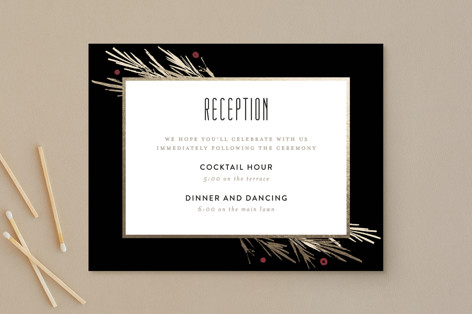 Winter Berry Foil-Pressed Reception Cards