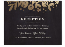 Sun Bleached Florals Foil-Pressed Reception Cards