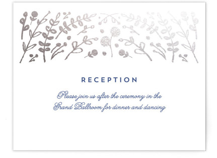 Floral Frame Foil-Pressed Reception Cards