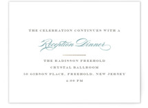 Charming Go Lightly Foil-Pressed Reception Cards