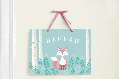 Woodland Fox Room Decor Signs