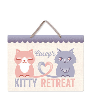 Kitty Retreat Room Decor Signs