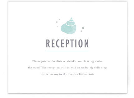The Shore Reception Cards