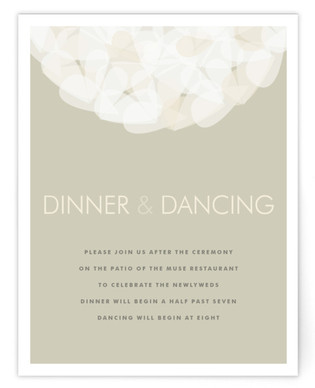 Modern Tulle Reception Cards