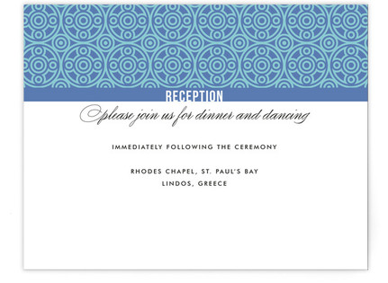 Mediterranean Stucco Reception Cards