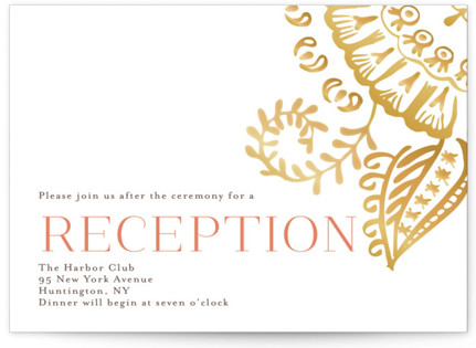 Modern Mehndi Reception Cards
