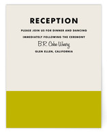 Color Block Reception Cards