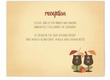 Tiki Luau Reception Cards