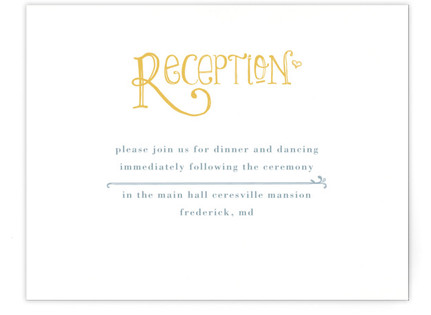 Once Upon Reception Cards
