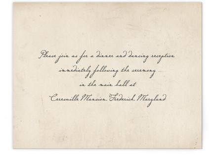 Vintage Letter Reception Cards