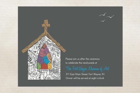 Quiet Chapel Reception Cards