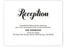Stamped Center Reception Cards
