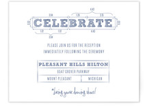 Blueprint Reception Cards