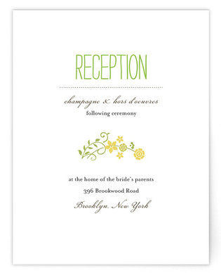 A Bloomin' Wreath Reception Cards