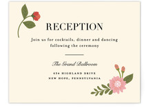 Cottage Rose Reception Cards