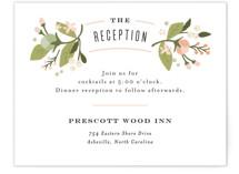 floral ampersand Reception Cards