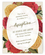 Vintage Botanicals Reception Cards