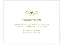 Contemporary Claddagh Reception Cards
