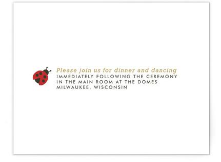 Ladybug Garden Reception Cards
