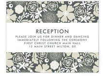 Simple Floral Reception Cards