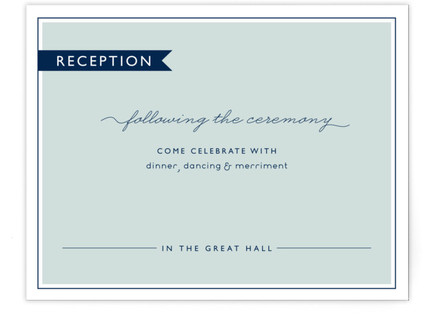 Rope Ampersand Reception Cards