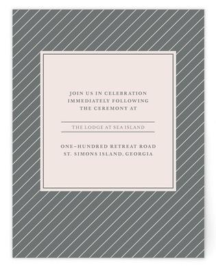 Blushing Reception Cards