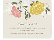 Breezy Bouquet Reception Cards