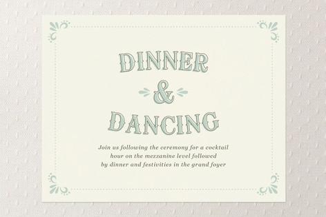 Marquee Reception Cards