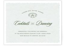 Classic Claddagh Reception Cards