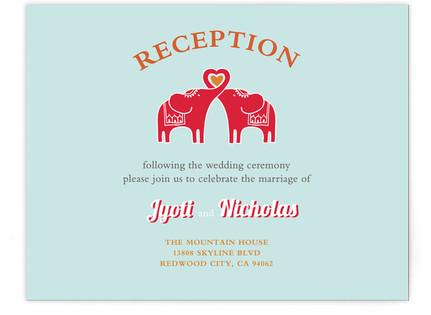 Elephant Heart Reception Cards