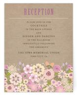 Burlap Bouquet Reception Cards