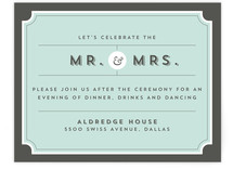 Dapper Reception Cards