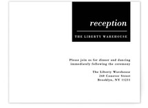 City Life Reception Cards