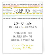 Whimsy Stripe Reception Cards