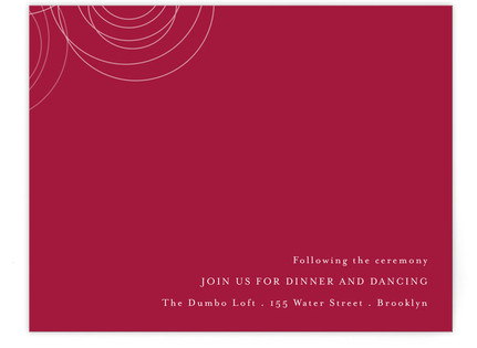 Circles of Love Reception Cards