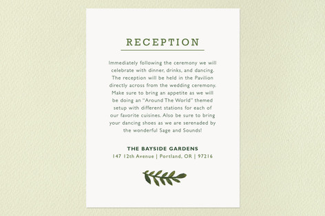 Peach Blooms Reception Cards