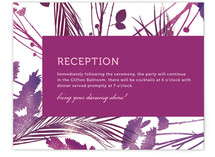 flower press Reception Cards