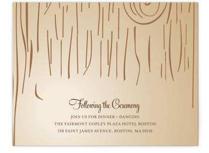 Fall Carving Reception Cards