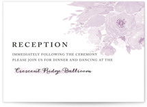 fresh watercolor floral Reception Cards