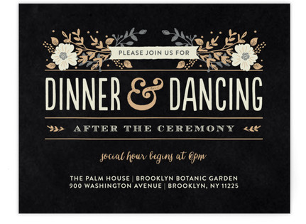 Jardin Nocturne Reception Cards