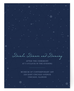 Star Map Reception Cards