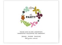 Celebrate Florals Reception Cards