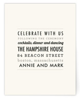 The Square Types Reception Cards