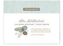 Rustic Pinecones Reception Cards