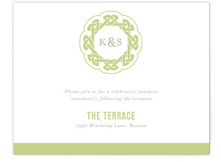 Modern Celtic Knot Reception Cards