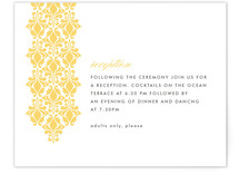 Damask Waterfall Reception Cards