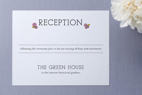 Parisian Blooms Reception Cards