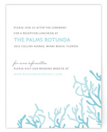 Simple Coral Reception Cards